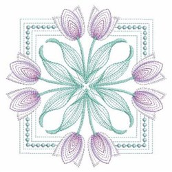 Tulips Square embroidery design