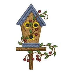 Country Birdhouse embroidery design