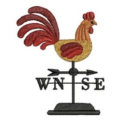 Country Weathervane embroidery design