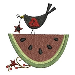 Country Watermelon embroidery design
