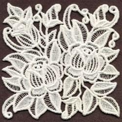 FSL Roses Square embroidery design