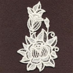 FSL Rose Bud embroidery design