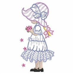 Girl In Sunbonnet embroidery design