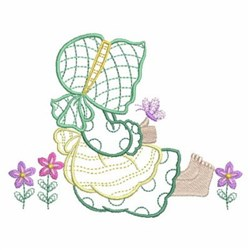 Sunbonnet Girl In Flowers embroidery design