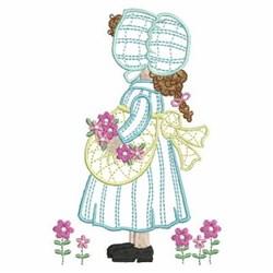 Sunbonnet Flower Girl embroidery design