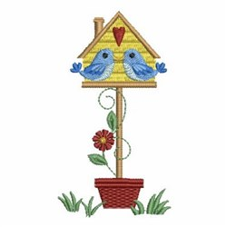 Potted Birdouse embroidery design