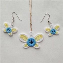 FSL Butterfly Earring Pendant embroidery design