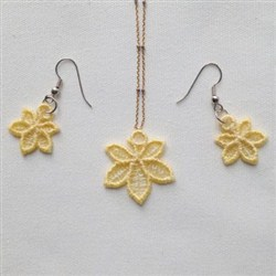 FSL Leaf Earring Pendant embroidery design