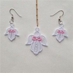 FSL Angel Earring Pendant embroidery design