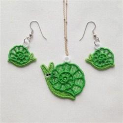 FSL Snail Earring Pendant embroidery design