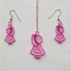 FSL Girl Earring Pendant embroidery design