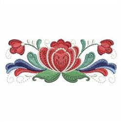 Rosemaling Roses Border embroidery design
