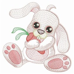 Rippled Baby Bunny embroidery design