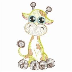 Rippled Baby Giraffe embroidery design