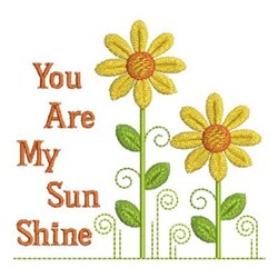 You Are My Sunshine embroidery design