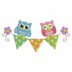 Baby Owls embroidery design