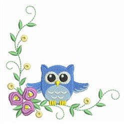 Baby Owl Corner embroidery design