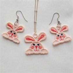 FSL Rabbit Jewelry embroidery design