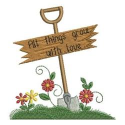 Gardening Love embroidery design