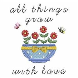 Garden Flower Pot embroidery design