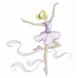 Rippled Ballerina embroidery design