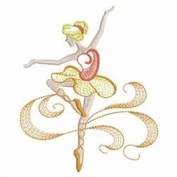 Rippled Ballerina embroidery design