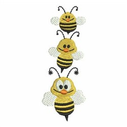 Stacked Bees embroidery design