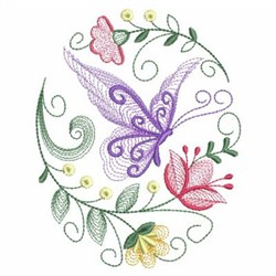 Rippled Butterflies embroidery design