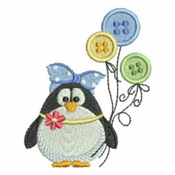 Penguin Buttons embroidery design