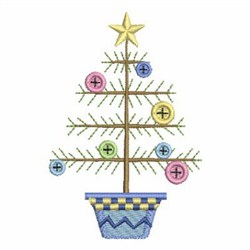 Button Christmas Tree embroidery design