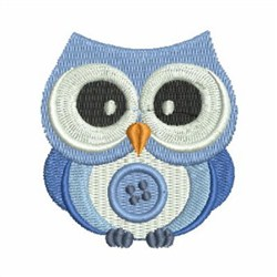 Cute Button Owl embroidery design