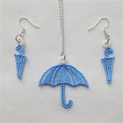 FSL Umbrella Jewelry embroidery design