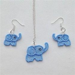 FSL Elephant Jewelry embroidery design