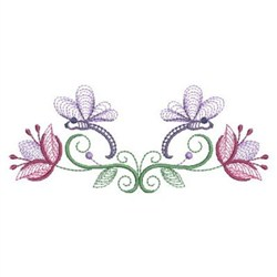 Rippled Dragonflies Border embroidery design