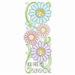 Rippled Sunflower Border embroidery design