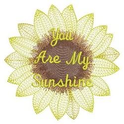 Rippled Sunflower embroidery design