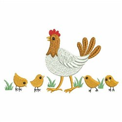 Chicken Family embroidery design