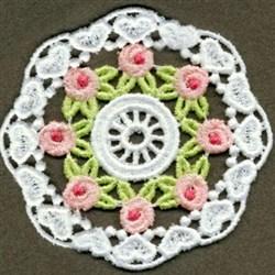 FSL Rose Doily embroidery design