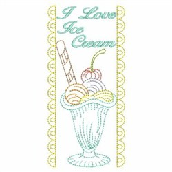 Ice Cream Banner embroidery design