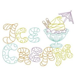 Ice Cream Outline embroidery design
