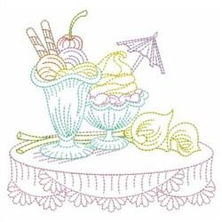 Ice Cream  Line Art embroidery design