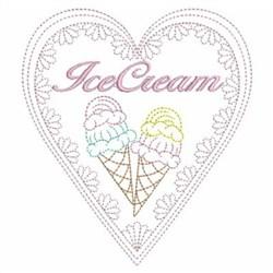 Ice Cream Love embroidery design