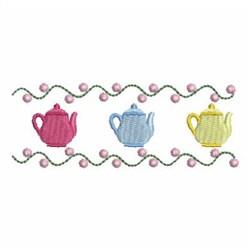 Teapot Border embroidery design