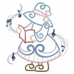 Caroling Girl embroidery design