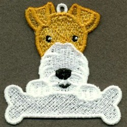 FSL Dogs With Bone embroidery design