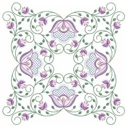 Vintage Jacobean Quilt 5 embroidery design