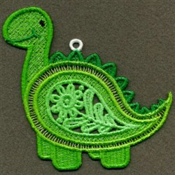 FSL Paisley Animals embroidery design