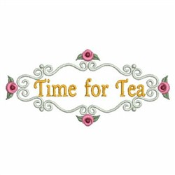 Time For Tea 2 embroidery design