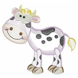 Rippled Farm Animals embroidery design