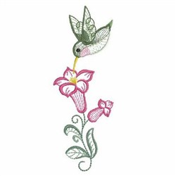 Rippled Hummingbirds 3 embroidery design